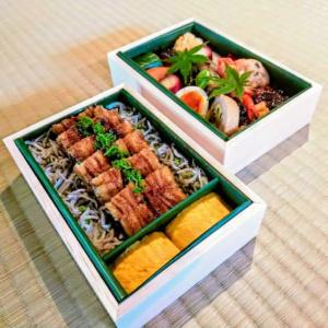鰻のお弁当2段